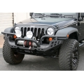 07-15 Jeep Wrangler JK Aries Heavy Duty  Front Bumper Complete, Black Steel