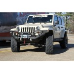 07-15 Jeep Wrangler JK Aries Heavy Duty  Front Bumper Complete, Black Steel