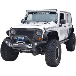 Jeep Wrangler JK 2007-2016 Heavy Duty Paramount Rock Crawler Front Bumper with LED Lights