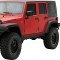 Smittybilt SRC Rock Armor with plate, 1 Piece Bar 07-14 JEEP WRANGLER JK 4-Door, 76646