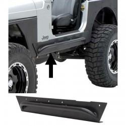Smittybilt XRC Armor Rock Sliders With Tube Step, Jeep Wrangler TJ 1997-2006, p/n76871